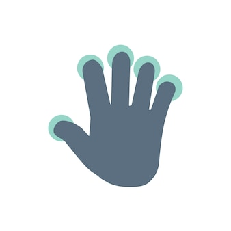 Illustration of touch screen hand gesture