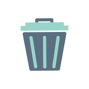 Illustration of trash bin icon