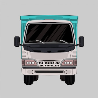 Illustration truck white