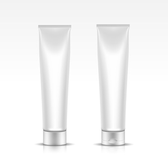 Illustration of tube for cosmetic package