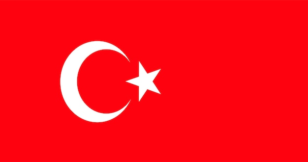 Illustration of turkey flag