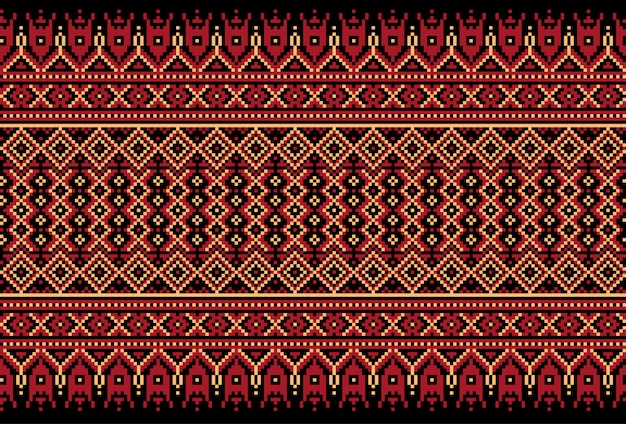 Illustration of ukrainian folk seamless pattern ornament.
