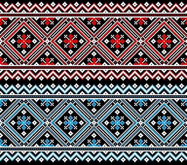 Illustration of ukrainian folk seamless pattern ornament