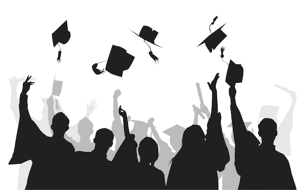 Illustration of university graduates