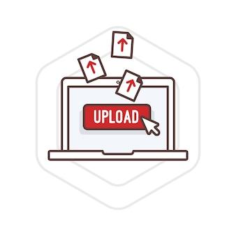 Illustration of upload activity