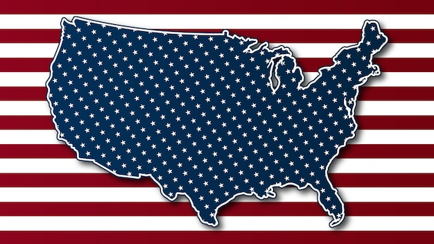 Illustration of usa map vector
