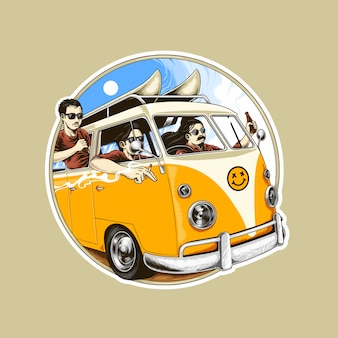 Illustration of van holiday