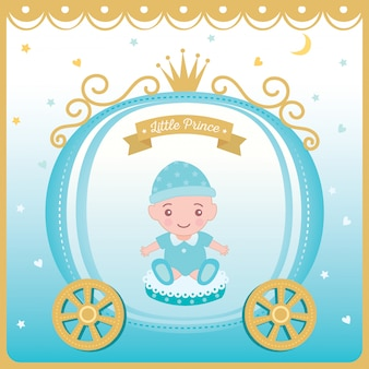 Illustration vector of baby shower greeting card