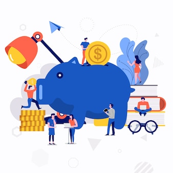 Illustration vector business concept.