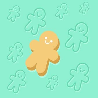 Illustration vector of gingerbread