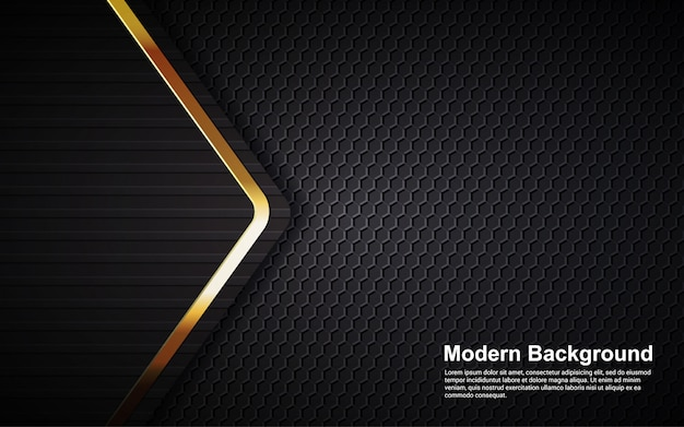 Illustration vector graphic of abstract background luxury black overlap layers modern