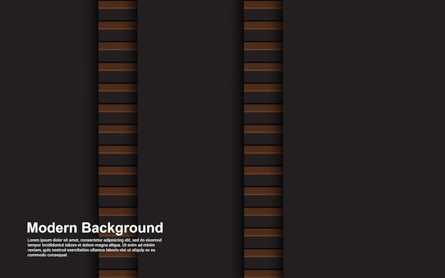 Illustration vector graphic of abstract black and brown color modern design