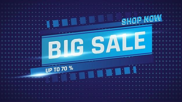 Иллюстрация векторной графики абстрактный темно-синий большой фон продаж
