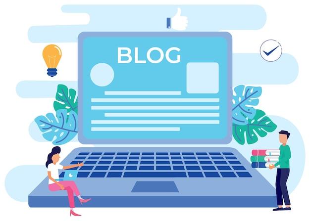 Illustration vector graphic cartoon character of blog