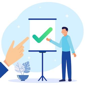 Illustration vector graphic cartoon character of checklist