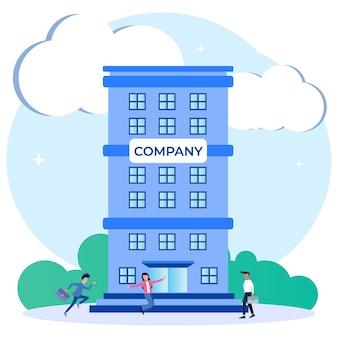 Illustration vector graphic cartoon character of company