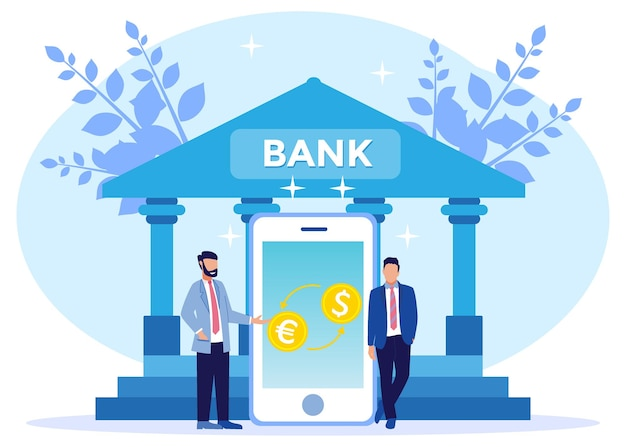 Illustration vector graphic cartoon character of currency exchange