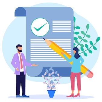 Illustration vector graphic cartoon character of data and document protection