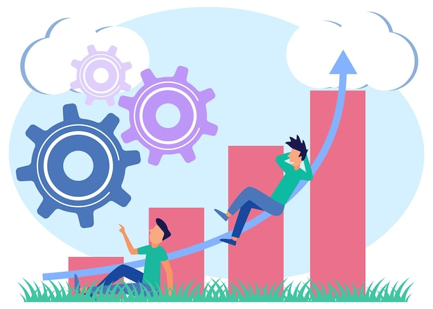 Illustration vector graphic cartoon character of evaluate the performance of hr employees