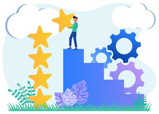 Illustration vector graphic cartoon character of feedback