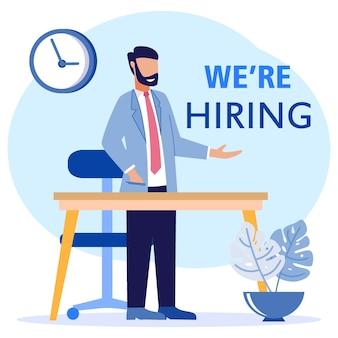 Illustration vector graphic cartoon character of hiring