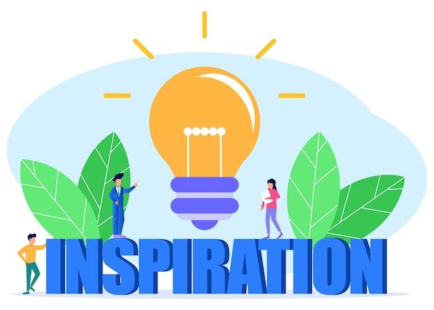 Illustration vector graphic cartoon character of inspiration