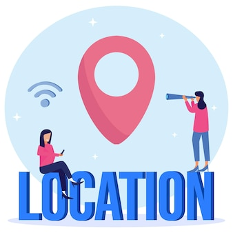 Illustration vector graphic cartoon character of location