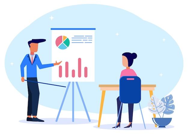 Иллюстрация векторной графики мультипликационный персонаж бизнес-образования