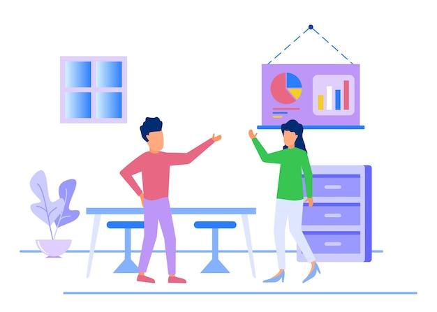 Иллюстрация векторной графики мультипликационный персонаж бизнес-команды