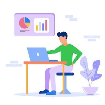 Иллюстрация векторной графики мультипликационный персонаж бизнеса