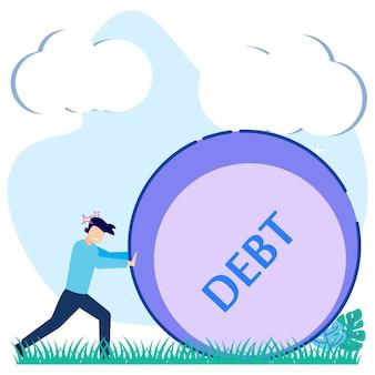 Иллюстрация векторной графики мультипликационный персонаж долга