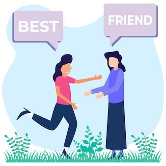 Иллюстрация векторной графики мультипликационный персонаж друзей