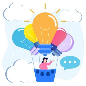 発明と創造的なアイデアのイラストベクトルグラフィック漫画のキャラクター