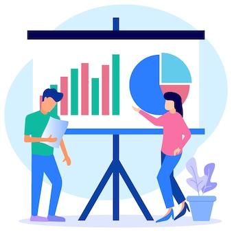 Иллюстрация векторной графики мультипликационный персонаж презентации