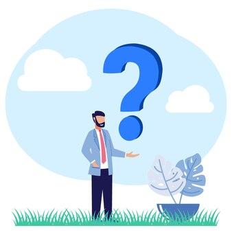 질문의 그림 벡터 그래픽 만화 캐릭터