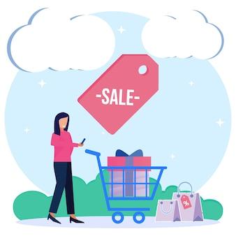 Иллюстрация векторной графики мультипликационный персонаж продажи