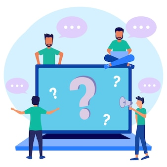 Illustration vector graphic cartoon character of question