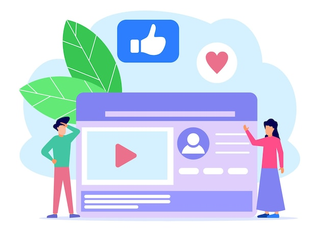 Illustration vector graphic cartoon character of social media