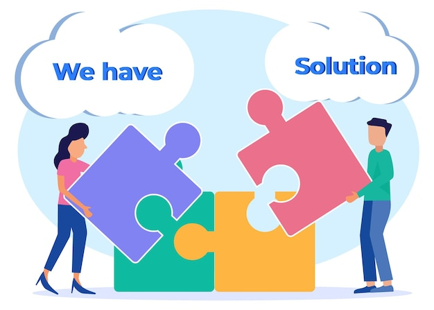 Illustration vector graphic cartoon character of solution