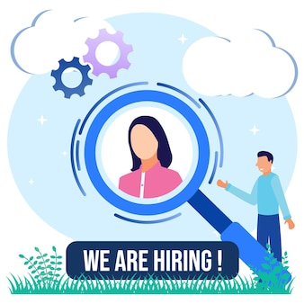 Illustration vector graphic cartoon character of we are hiring