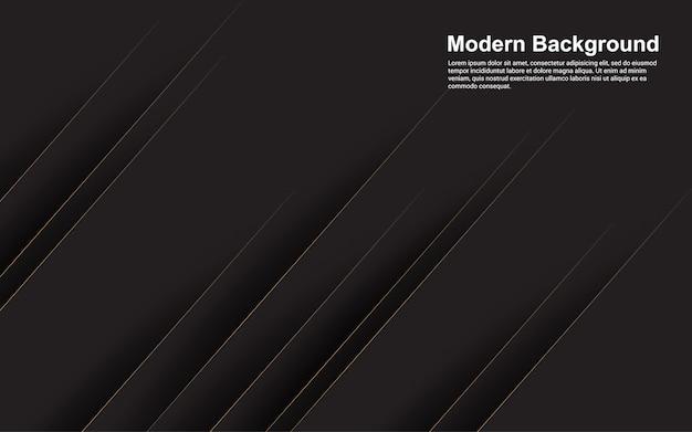 현대 갈색 라인 블랙 추상적 인 배경의 일러스트 벡터 그래픽