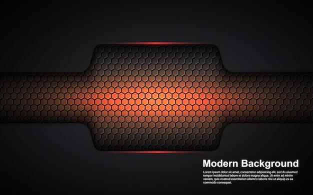 黒のモダンなオレンジ色の抽象的な背景のイラストベクターグラフィック