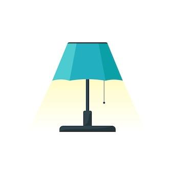 ランプのデザイン、ホームオブジェクトの光とアイコンに適した電気のテーマのイラストベクトルグラフィック