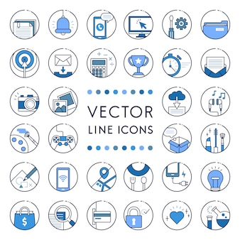 Illustration of vector line collection