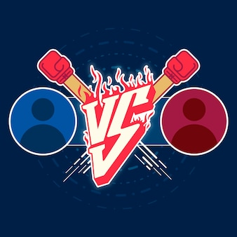 Illustration versus fight emblem