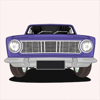 Illustration on vintage classic car