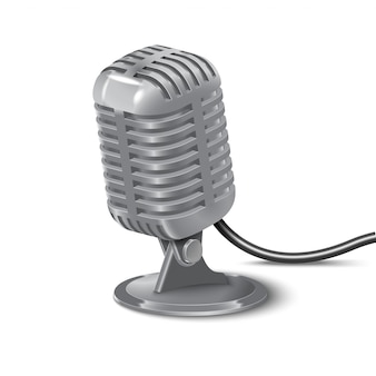 Illustration of vintage microphone