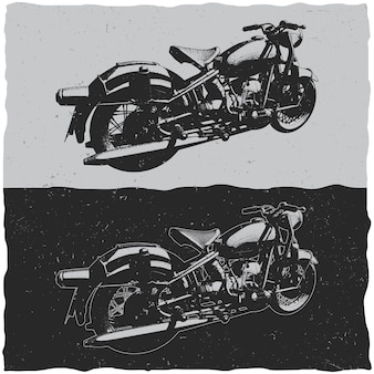 Illustration of vintage motorcycles