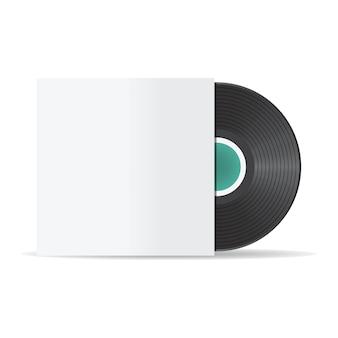 Illustration of vinyl record mockup