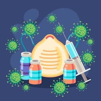 Illustration of virus cure concept